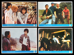 four Yugoslavian lobby cards (one card at the bottom on the right again - like the photo poster - displaying a deleted scene or a staged and photographed one just for publicity reasons)