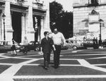 Bruce Lee and Riccardo Billi in the streets of Rome