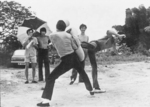 On the set of THE WAY OF THE DRAGON: