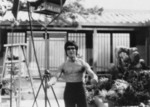 Bruce Lee visiting the set of WHEN TAEKWONDO STRIKES