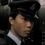 Policeman in elevator