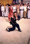 on the set of OPIUM AND THE KUNG FU MASTER